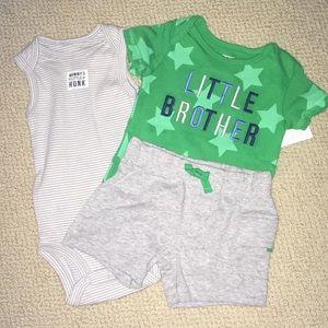 Carter's baby boy onsie shirt pant set 3mo